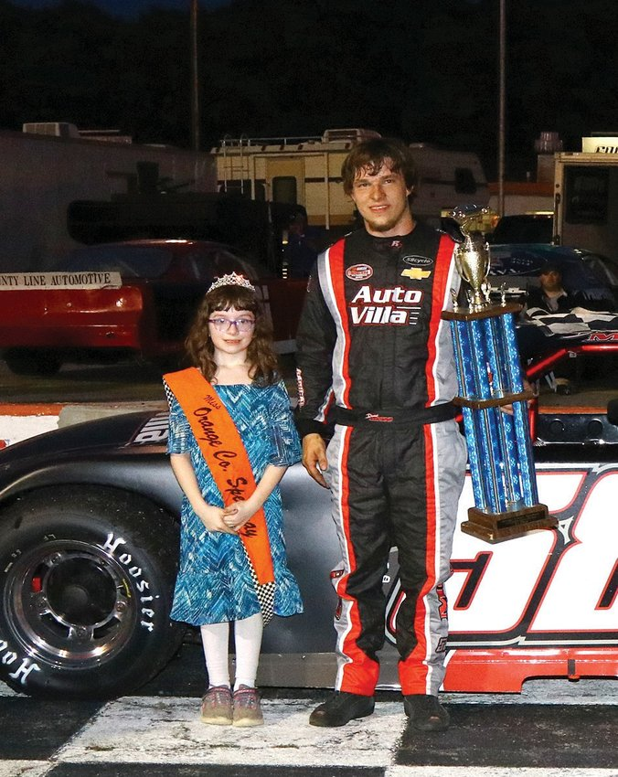 Daniel Moss will be looking to make another trip to victory lane when he competes at Orange County Speedway Saturday.