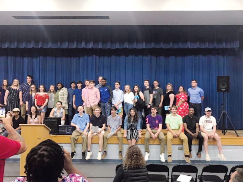 Contributed Photo.Graduating seniors who attended Helena Elementary School came together Monday...