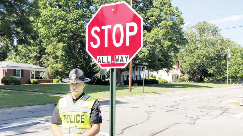 In a public service annoucement, Roxboro Police Sgt. Ryne Ford provides information for motorists about the all way stop on Crestwood Drive at Gordon Street.
