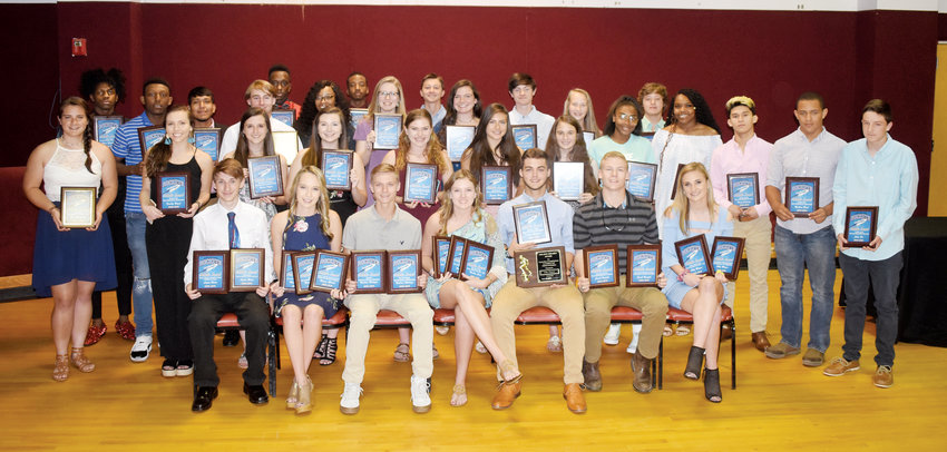 Kelly Snow | The Courier-Times.Person High School athletes were honored last week at the annual Rocket Club Awards banquet held at Palace Pointe.