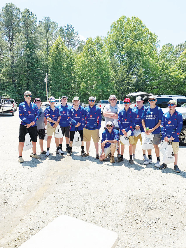Contributed Photo.Members of the Person High School bass fishing club participated in its annual tournament last month.