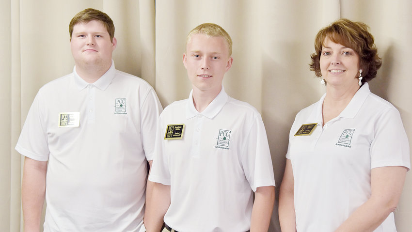 The newest class of Student Ambassadors at Piedmont Community College include, from left, Zachary Walker, Jonathan Willis and Deanna Burch.