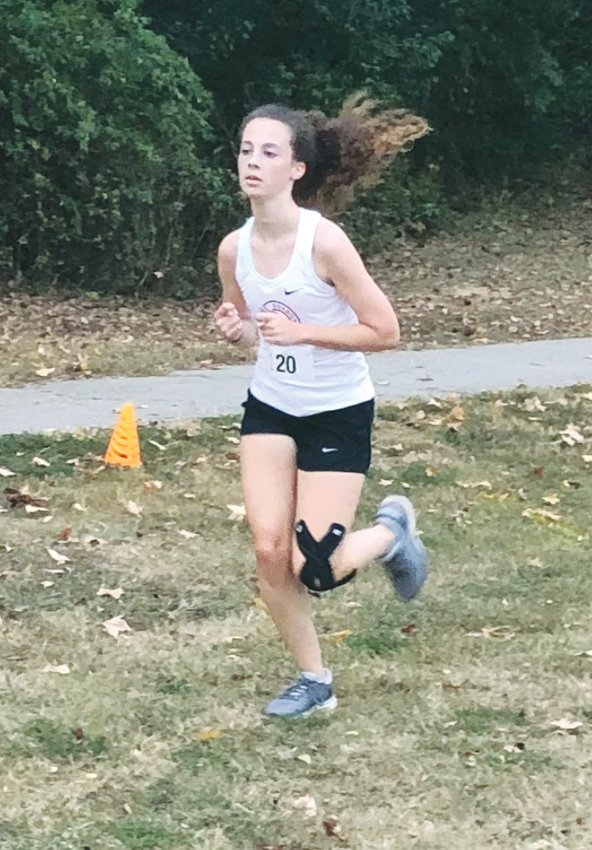 RCS' Emily Taylor finished in second place in the girls cross country meet Wednesday at Forest Hills in Garner.