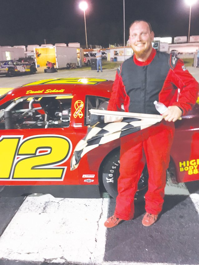 Daniel Schadt took the checkered flag in the last Late Model race of the season at OCS.