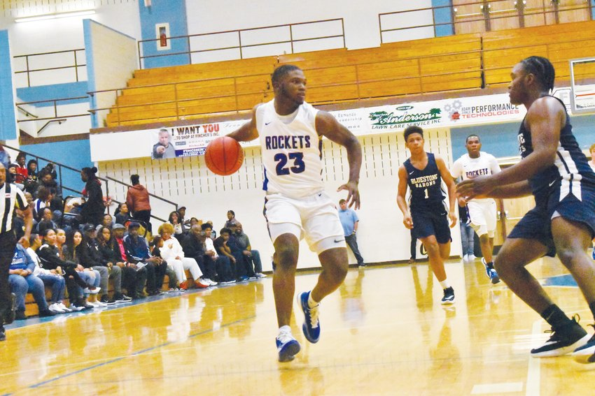 Dre Newman (23), pictured here in PHS basketball's game on Friday, Dec. 27 against Bluestone (VA) High School, was part of a Rocket basketball team that finished second in the Mid-State 3-A conference and appeared in the state playoffs during the 2018-2019 season.