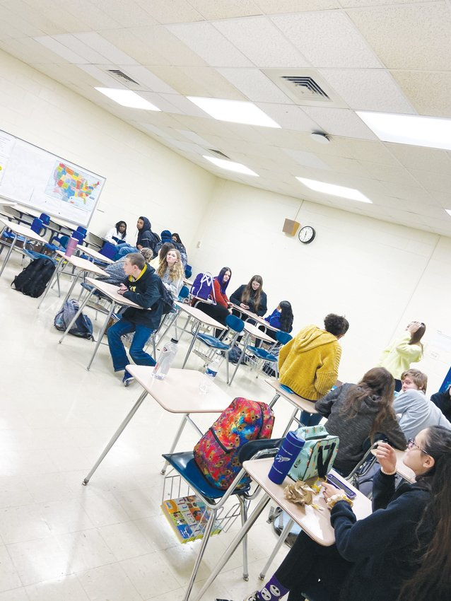 Students fill classrooms as part of Academy 9 at Person High School.