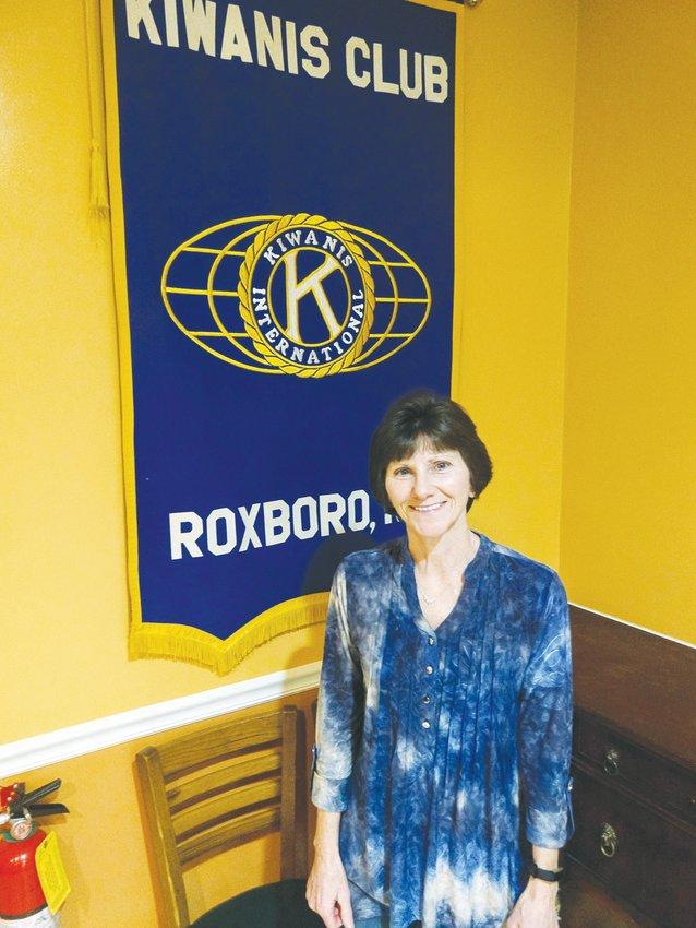 Diane Brent addressed members of the Roxboro Kiwanis Club about the efforts of the Friends of the Parks.