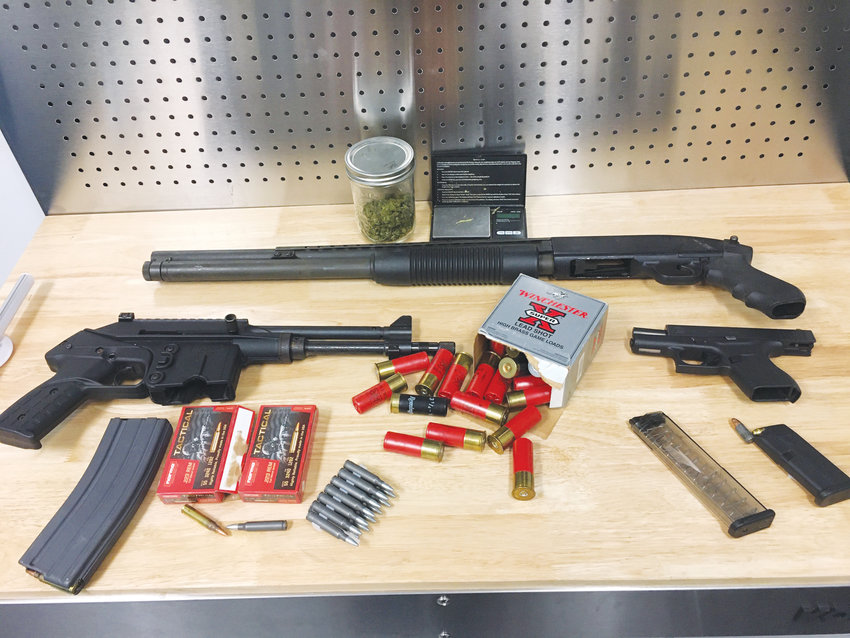 The Roxboro Police Department siezed an assault weapon, shotgun, handgun and ammunition following the execution of a search warrant at a teenager's home. The teenager was arrested on a charge of assault with a deadly weapon with intent to kill, discharging a firearm in the city limits and possession of a firearm by a minor after a shots fired call Friday, Jan. 24 on South Street.