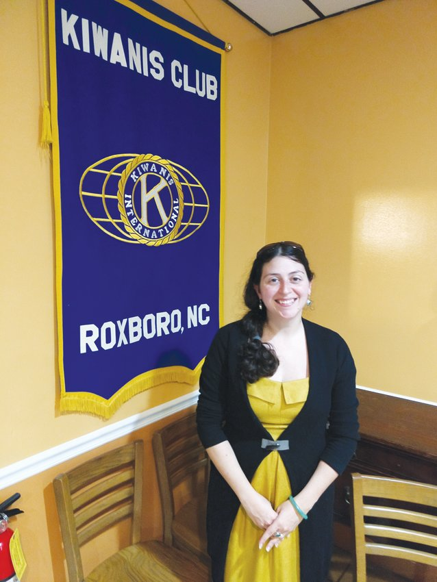 Erin Hill was the guest speaker at a recent Kiwanis Club meeting.