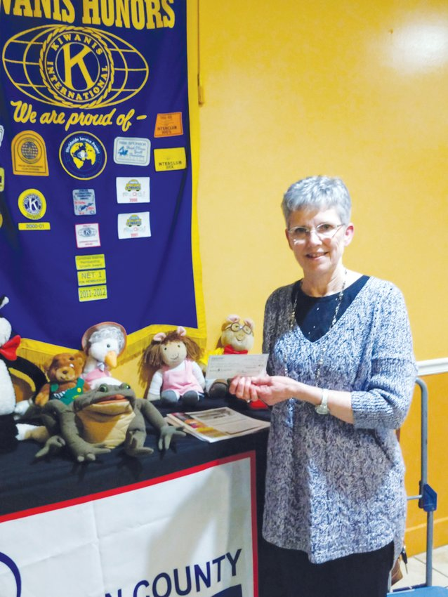 Susan Bowen, a programs outreach coordinator with the Person County Library, was the guest speaker at a recent meeting of the Roxboro Kiwanis Club.