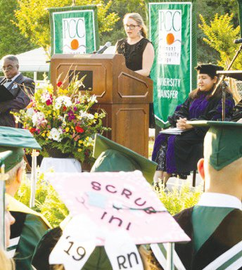 Carrie Bowers was voted 2019 Alumnus of the Year at the 2019 PCC Commencement ceremony.