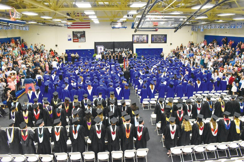 Person High School officials have made the decision to move commencement ceremonies inside. That will limit the number of guests who can attend the ceremony.