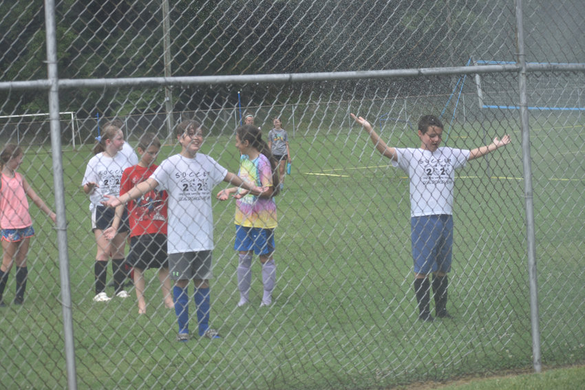 Soccer players enjoyed a visit from the Roxboro Fire Department on Friday, July 24 at the conclusion of summer camp. Roxboro Community School high school varsity women's soccer coach Tim Ess ran the camps, held at Huck Sansbury, in conjunction with Person County Parks and Rec.