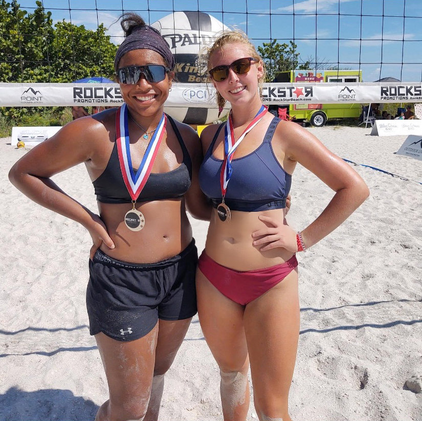 Emma Duncan and Nadia Scott earned second place in the Florida Summer Heat Tournament this past weekend in St. Pete Beach, Fla. as part of their club team, Carolina Legacy. Sunday was the duo's first time playing together.