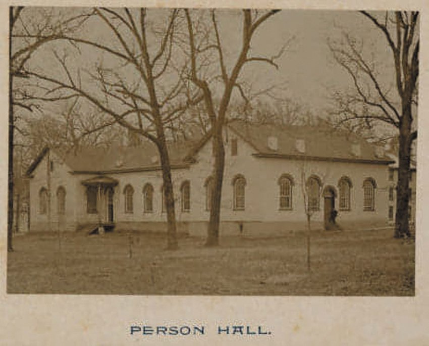 Piece of History.Person Hall has been a fixture on the campus of the University of North Carolina at Chapel Hill for more than 220 years. It was named for Thomas Person, the namesake of our county. This picture was from 1892. Today, Person Hall is composed of two recital rooms connected by a corridor (1892 addition) of offices. The original wing (east) retains its Colonial-styled wood trim and molding. The windows in the 1892 addition have been bricked in, an alteration that may have occurred during the 1936 remodel.