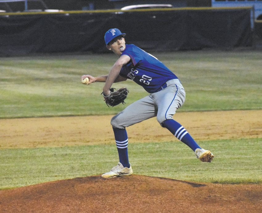 Person High School starting pitcher Justin Carden only allowed two runs on four hits through six innings.