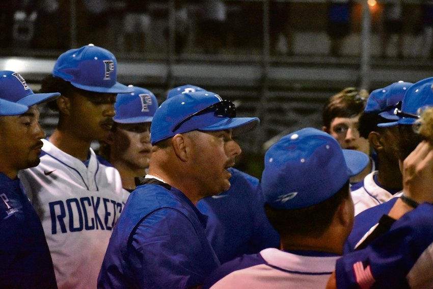 Pete Tuck took over as head coach after Kyle Boyette's seventh-inning ejection.
