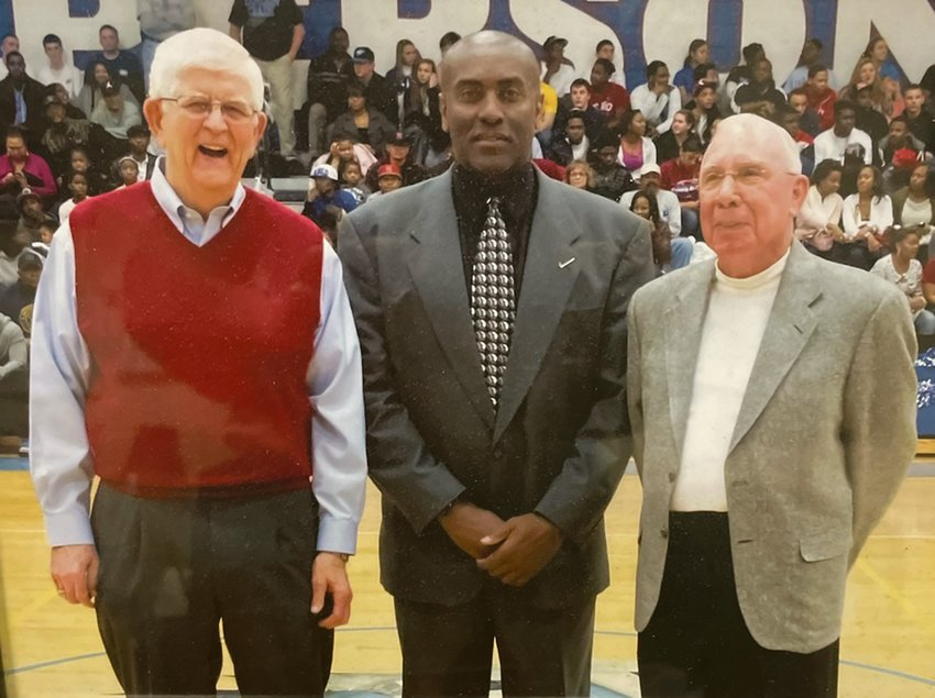 Tommy Day (right), who coached the Person High Basketball team from 1984-1994, passed away at his home on Sunday morning.