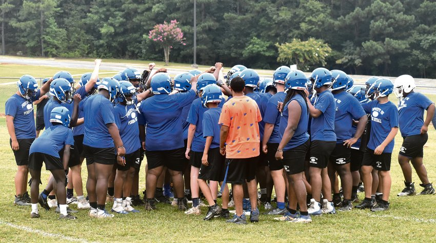 The Person High School football team opened its fall practice Monday.
