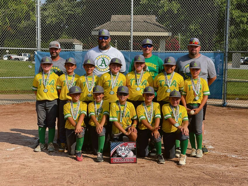 The Tri-State Arsenal Springers 10u baseball team, coached by Fred Long (back row, second from left), completed its summer tournament slate with a 15-0 rout of the LBC Bulldogs. With four wins in four games over the weekend, the Springers ended their summer with a 22-12 record.