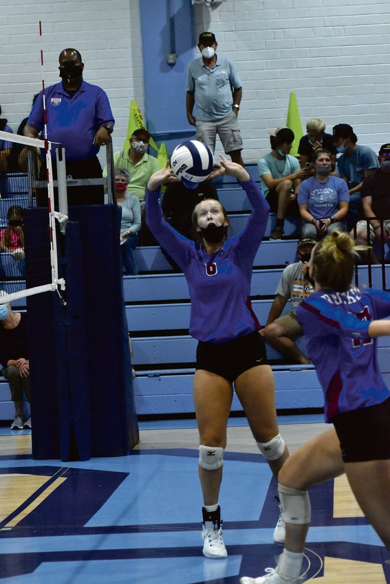 Person setter Lillie Davis finished with 29 kills in the Rockets' season-opening win at South Granville.