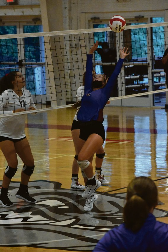 Lillie Davis kept Person's attack rolling by finding her outside hitters.