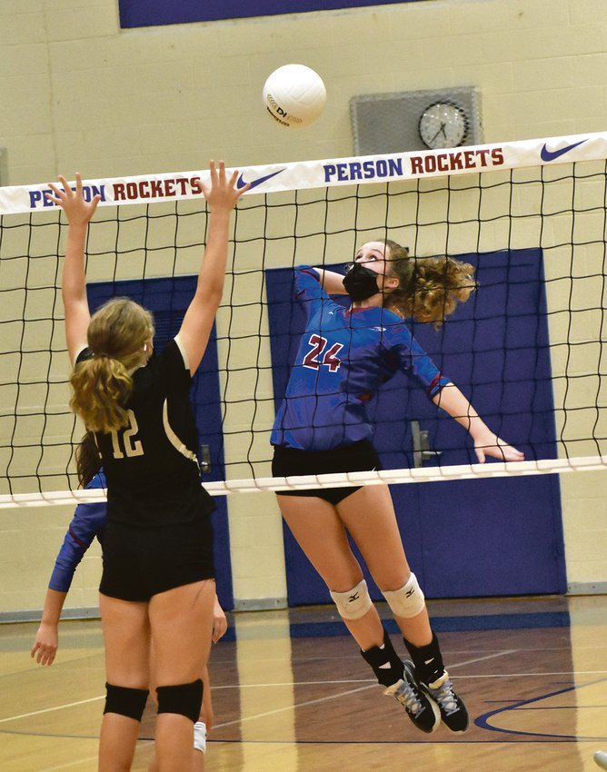 Miriam Clayton led Person with seven kills in a two-set sweep of Williams.