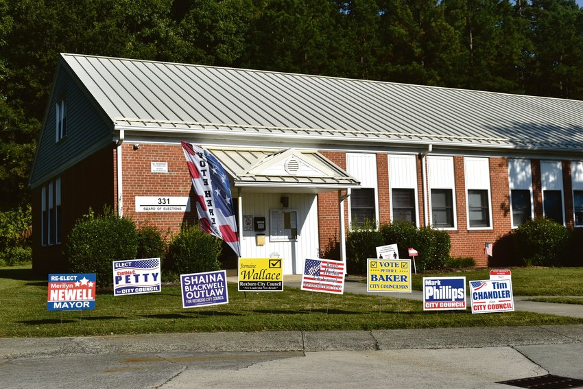 Early voting for Roxboro's 2021 municipal election runs through Saturday at the Person County Board of Elections. Election day is next Tuesday in the Person County Auditorium at 304 S. Morgan St.