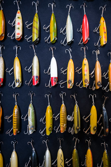 The History of Fishing Museum claims to have the most antique fishing lures, rods, reels, boats and motors entirely collected by one man. That man is Karl White. The collection goes over 40,000 items deep.