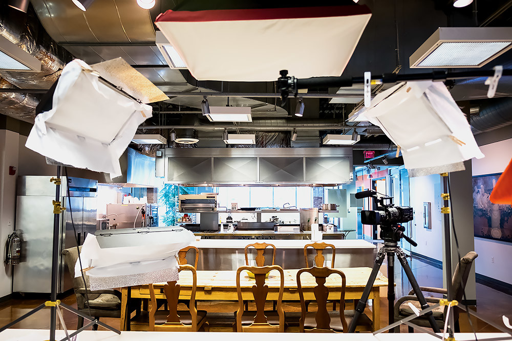 Noble's development kitchens double as video production studios.