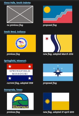 Here's a look at Springfield and other recently proposed or adopted city flags tracked by Ted Kaye in Portland, Oregon.