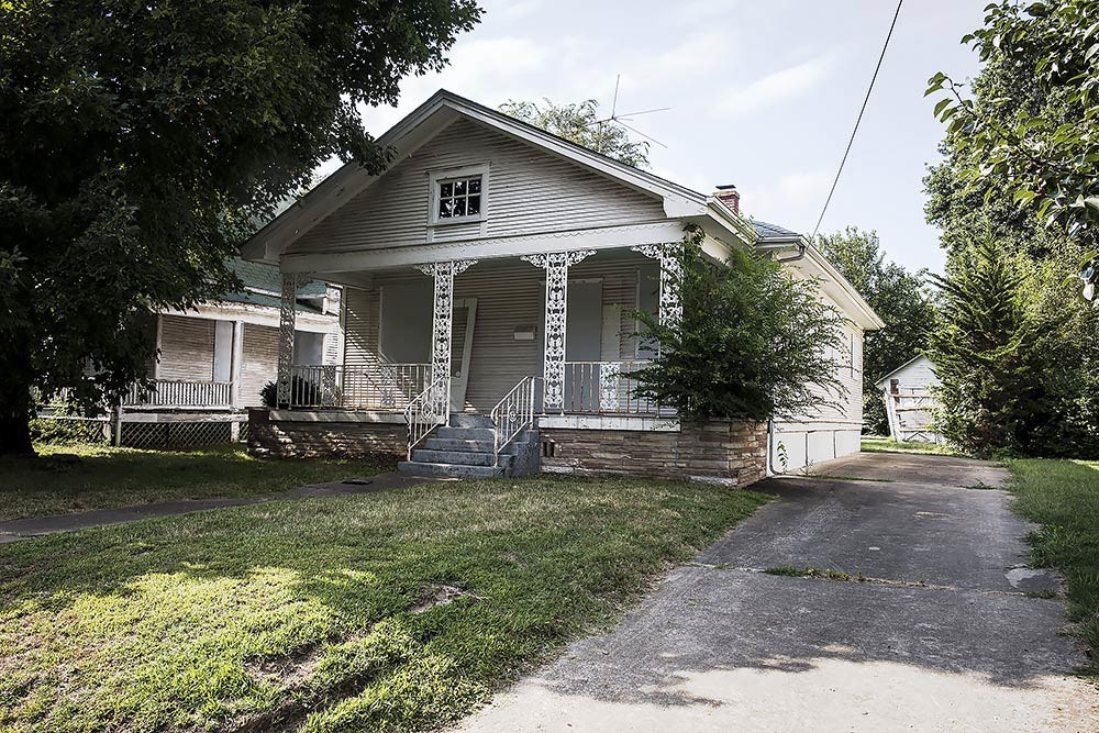 BLIGHT REQUEST: The properties at 1325 and 1329 E. Cherry St. are unsafe for living, Economic Development Director Sarah Kerner says. They were built in the early 1900s.