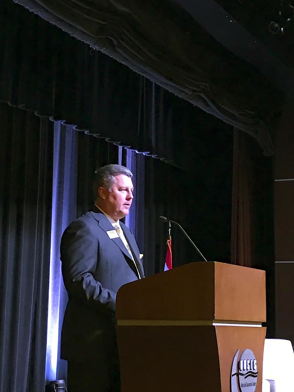Roughly 450 people attended Springfield Area Chamber of Commerce's annual Membership Luncheon on Aug. 9 at Oasis Hotel & Convention Center. Above, Chairman John Wanamaker welcomes the sold-out crowd.
