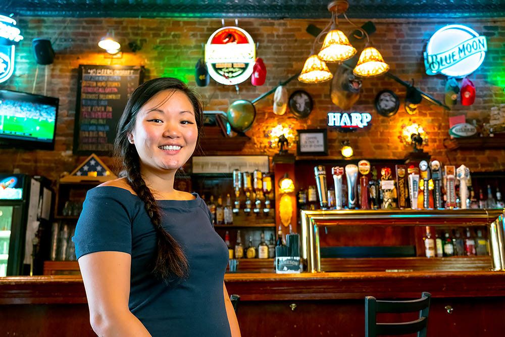 BOOM TOWN: Finnegan's Wake co-owner Anne Baker says business booms this time of year.