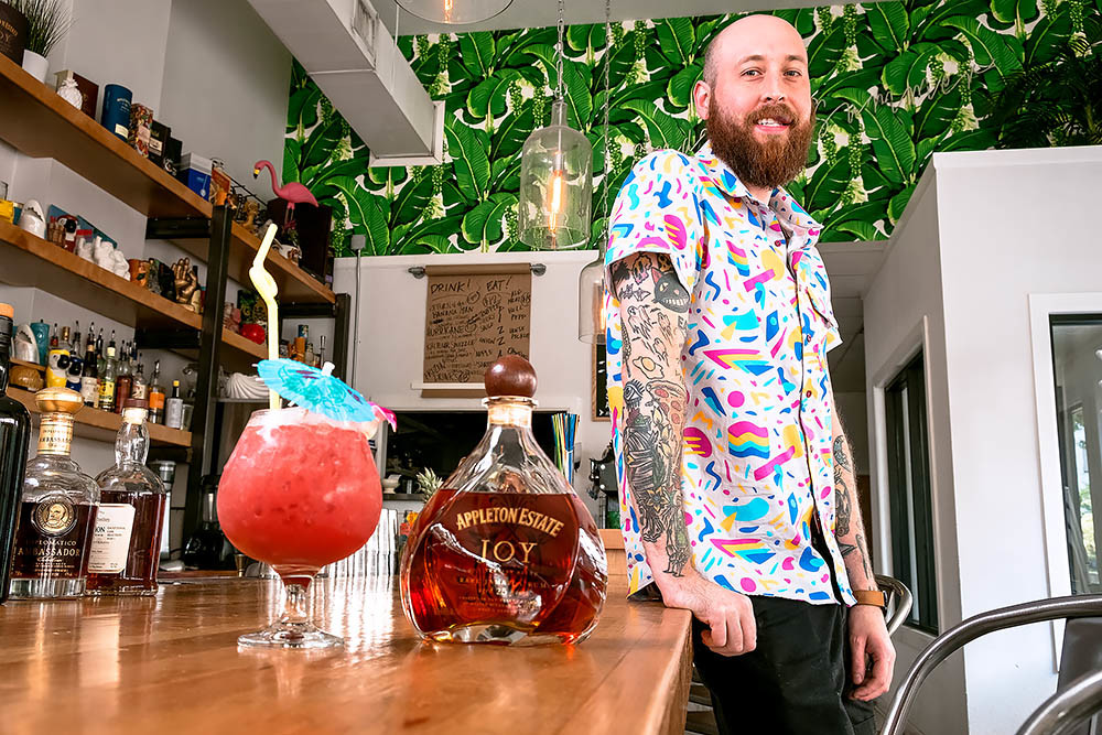 RIPPLES OF CHANGE: Rogan Howitt, co-owner of The Golden Girl Rum Club, says convincing old-fashioned cities to try new things can be difficult.