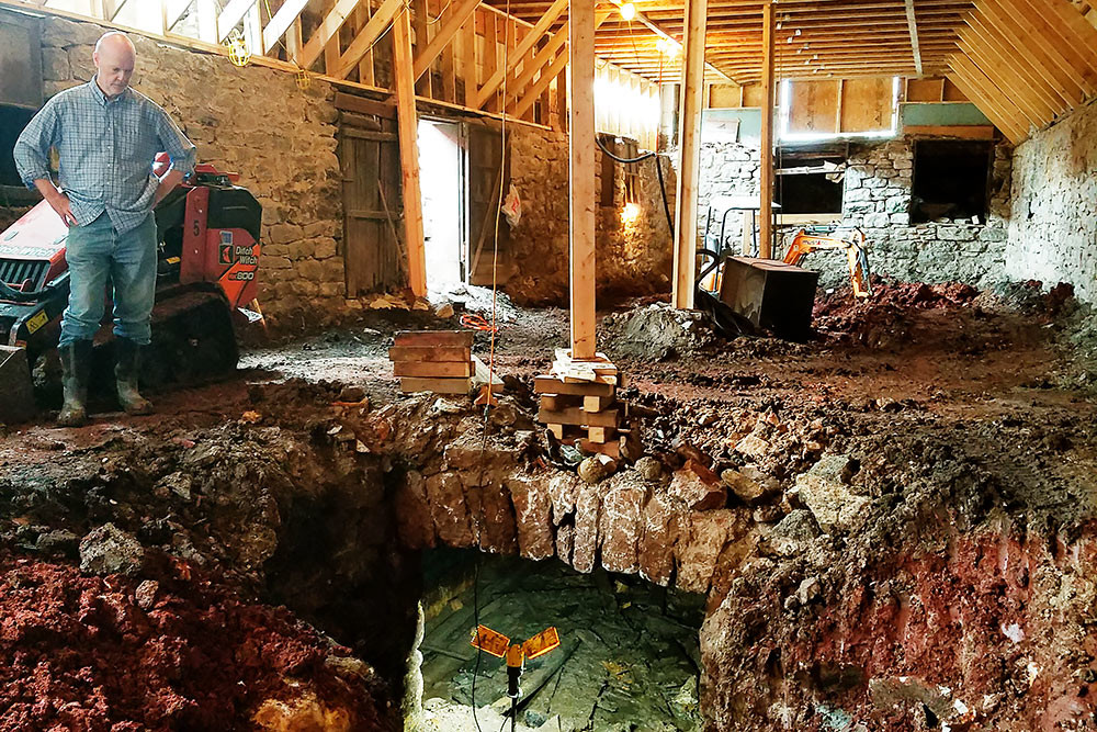 Workers discover an underground cellar while renovating the Ophelia's building on Commercial Street.