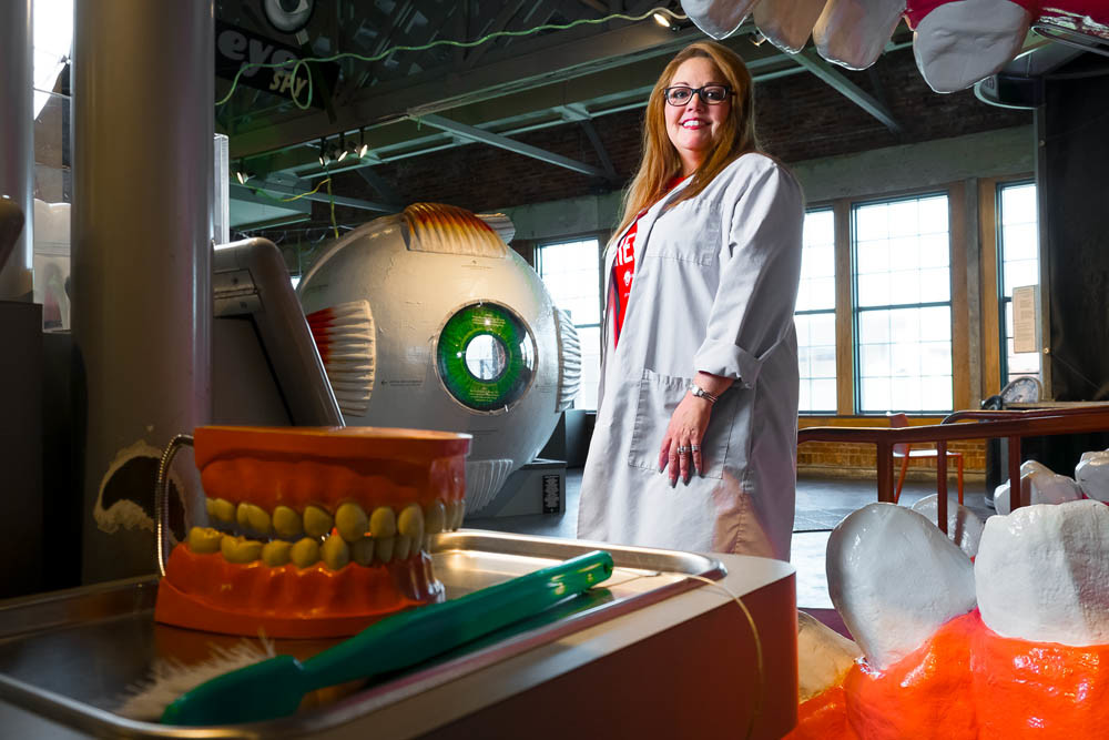 HANDS ON: Meleah Spencer, executive director for the Discovery Center of Springfield Inc., says inspiring the next generation of scientists is a core tenet of the museum.