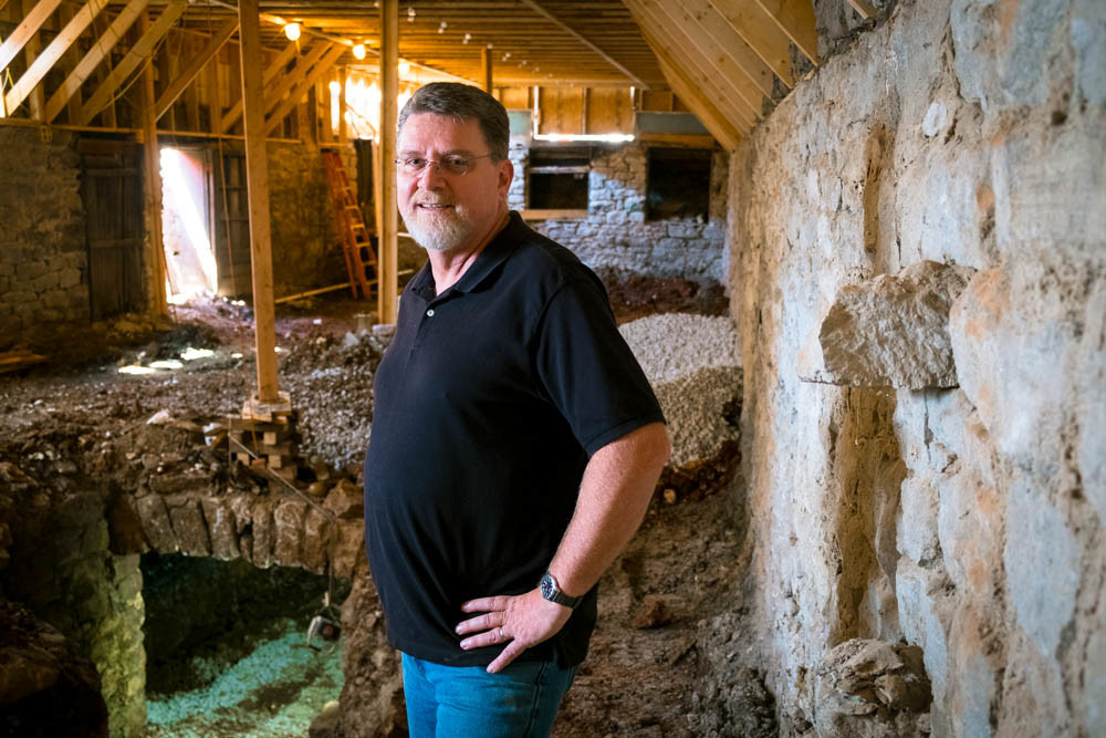 CELLAR ROOTS: Tom Muetzel plans to integrate the newly discovered underground cellar into the relaunch of Ophelia's restaurant and bar.