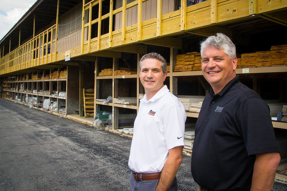 LONG VIEW IN LUMBER: Meek's is centralizing its leadership under CEO Charlie Meek, far right, and Chief Financial Officer Mike Meek.