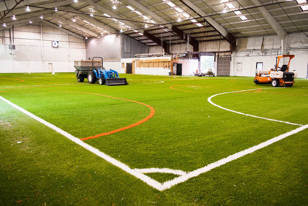 Renovations to develop an indoor soccer dome at the former Big Rock Climbing Gym are underway.