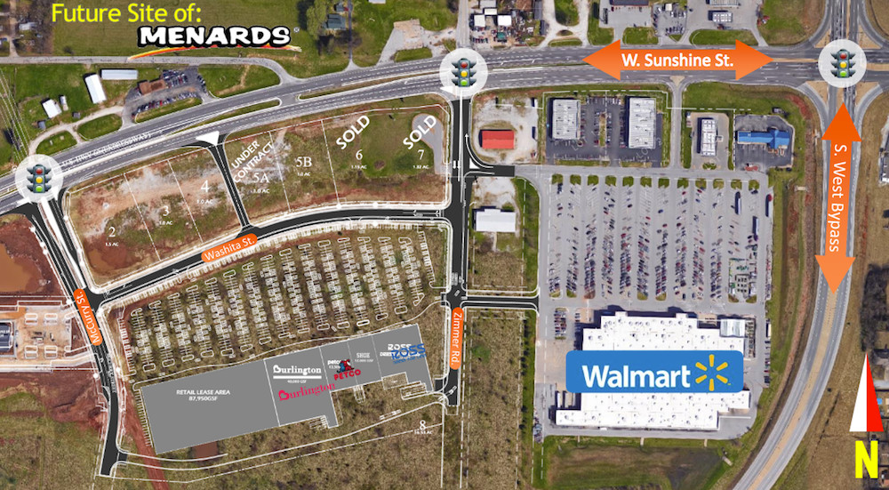 The Springfield Plaza developers plan to extent the shopping center to the west in Phase II.