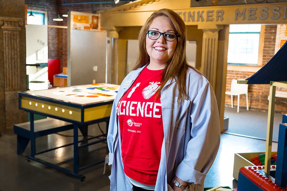 Meleah Spencer, pictured here at Discovery Center of Springfield in September, is exiting her post after more than three years to join The Kitchen.