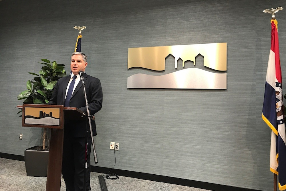 Missouri Department of Economic Development Director Rob Dixon talks about new state-level workforce programs influenced by Springfield during a visit to the local chamber.