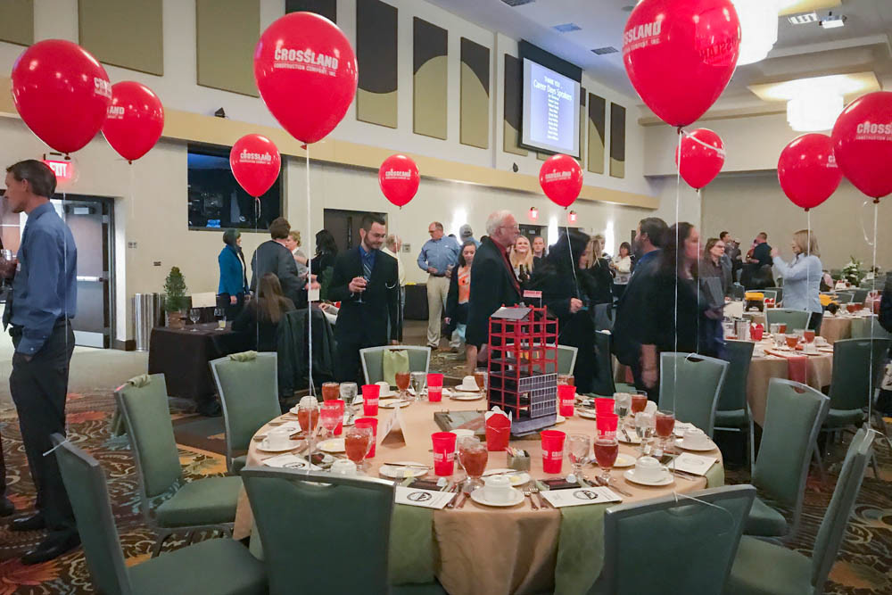During the 33rd annual Salute to Design and Construction Awards Banquet, about 450 people gathered Nov. 9 under the chandeliers of the grand ballroom at Oasis Hotel & Convention Center to celebrate their industry.