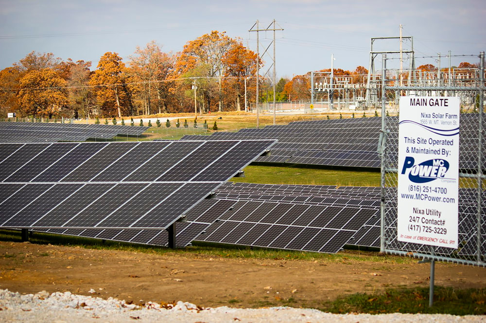 Officials are scheduled to dedicate the 72-acre Nixa solar farm tomorrow.
