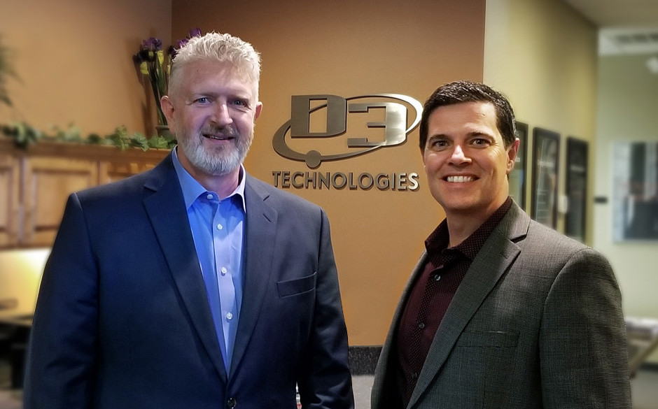 Manufacturing engineering consultant Brian Mills, left, joins President Kevin Schlack at D3 Technologies.