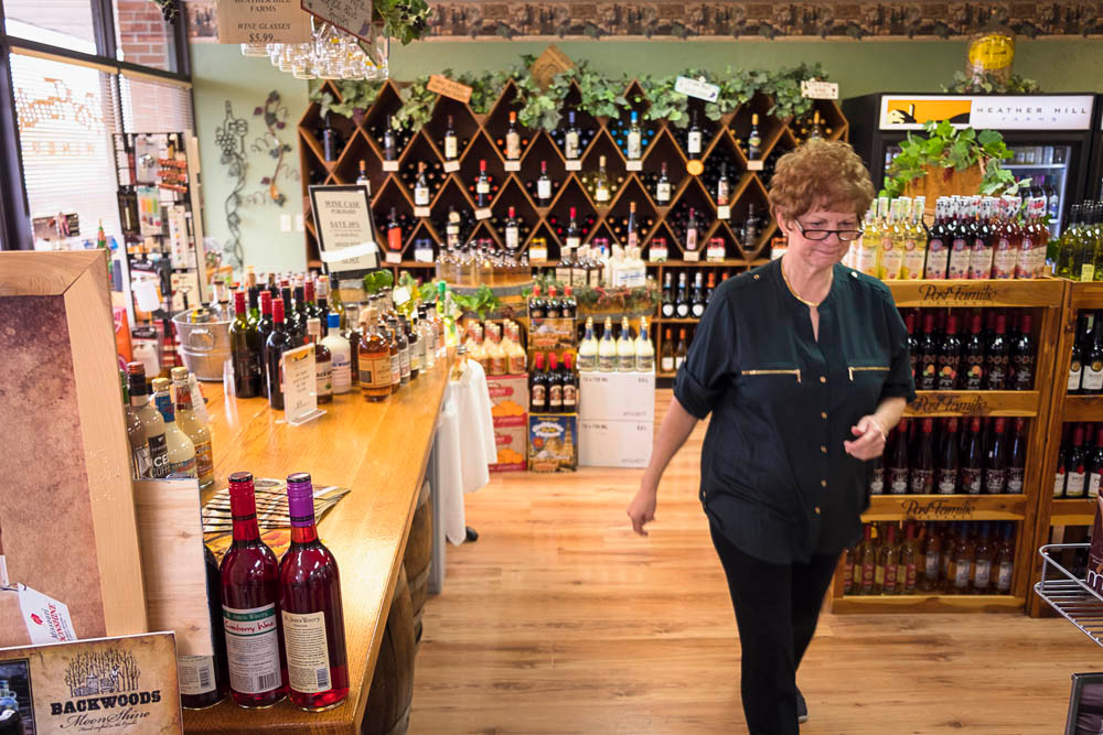 Wine and cheese parties have become a mainstay at Alder's retail store.