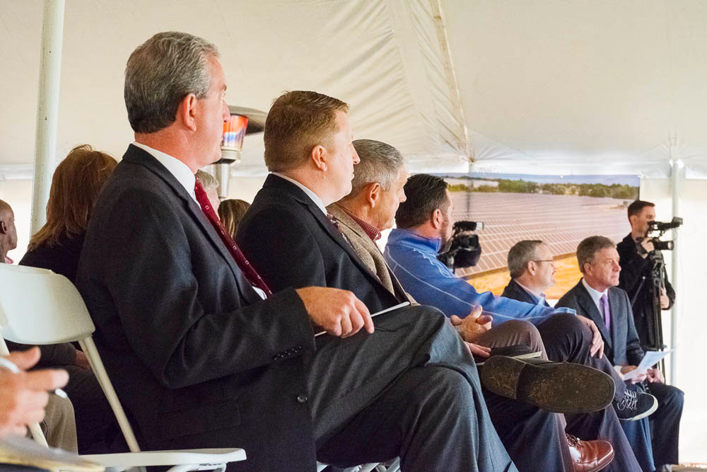 City officials say Central Bank of the Ozarks, led by President Russ Marquart, seated at left, provided the financing and tax credit equity investment.