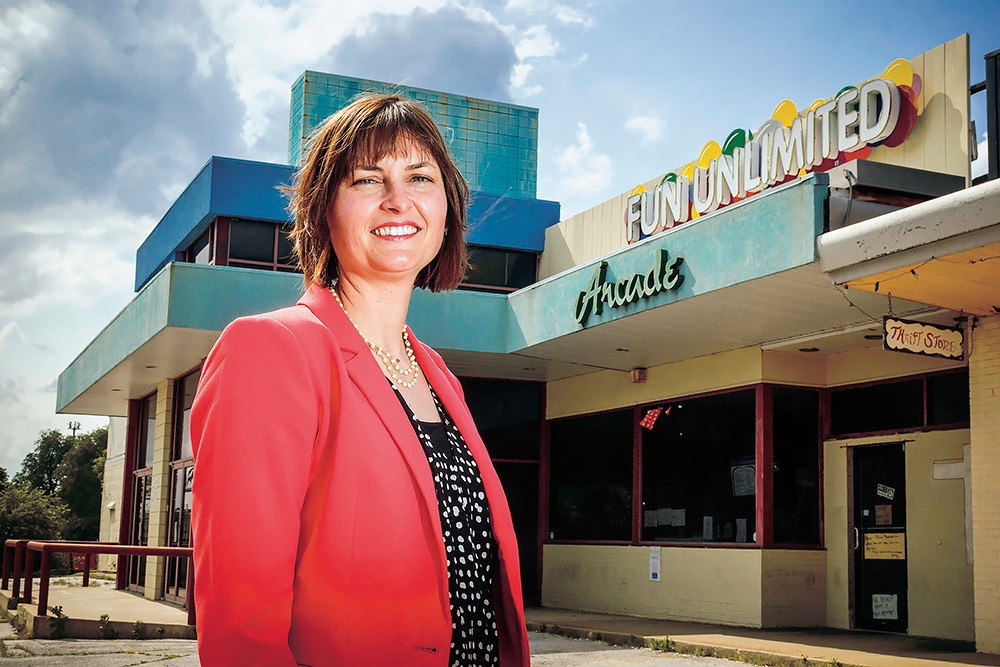 Springfield Director of Economic Development Sarah Kerner says Freeway Ministries' purchase of the former Holiday Lanes will bring people to shop as Kearney Street is redeveloped.
