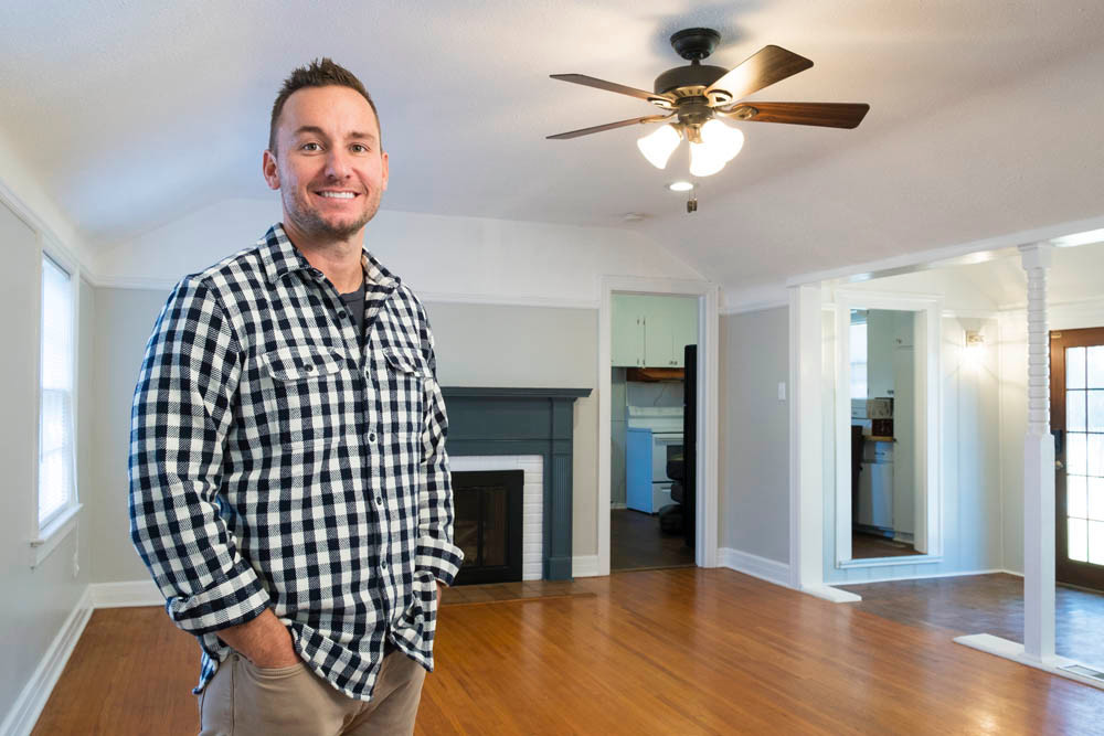 NEW LIFE: Zach Riggs runs a house-flipping business in the Springfield area where he transforms houses like this two-bedroom home on Holland Avenue.